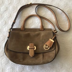 Michael Kors Suede Crossbody Messenger Handbag